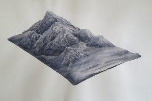 Nomadisches Gebirge II Pastell und Tusche auf Papier 42 x 59,7 cm 2015