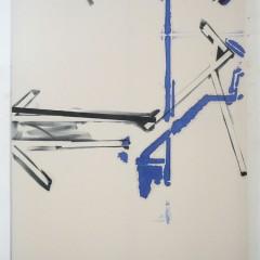 Heiner Blumenthal, O.T., 2014/15, 287 x 220 cm, Harzfarbe, Baumwolle
