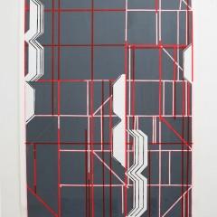 Britta Bogers, o.T., 2015, 210 x 146 cm, Acryl auf Papier