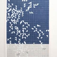 Britta Bogers, O.T., 2013, 206 x 146 cm, Acryl auf Papier