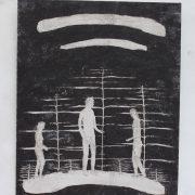 L.i.e.G.-37s,-49-x-40-cm,-Acryl-Holz,-2009-