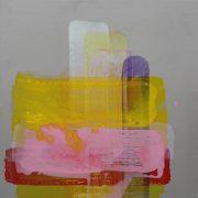 Desgranges strokes 2, 33 x 33 cm, Acryl auf Stahl, 2007 strokes3
