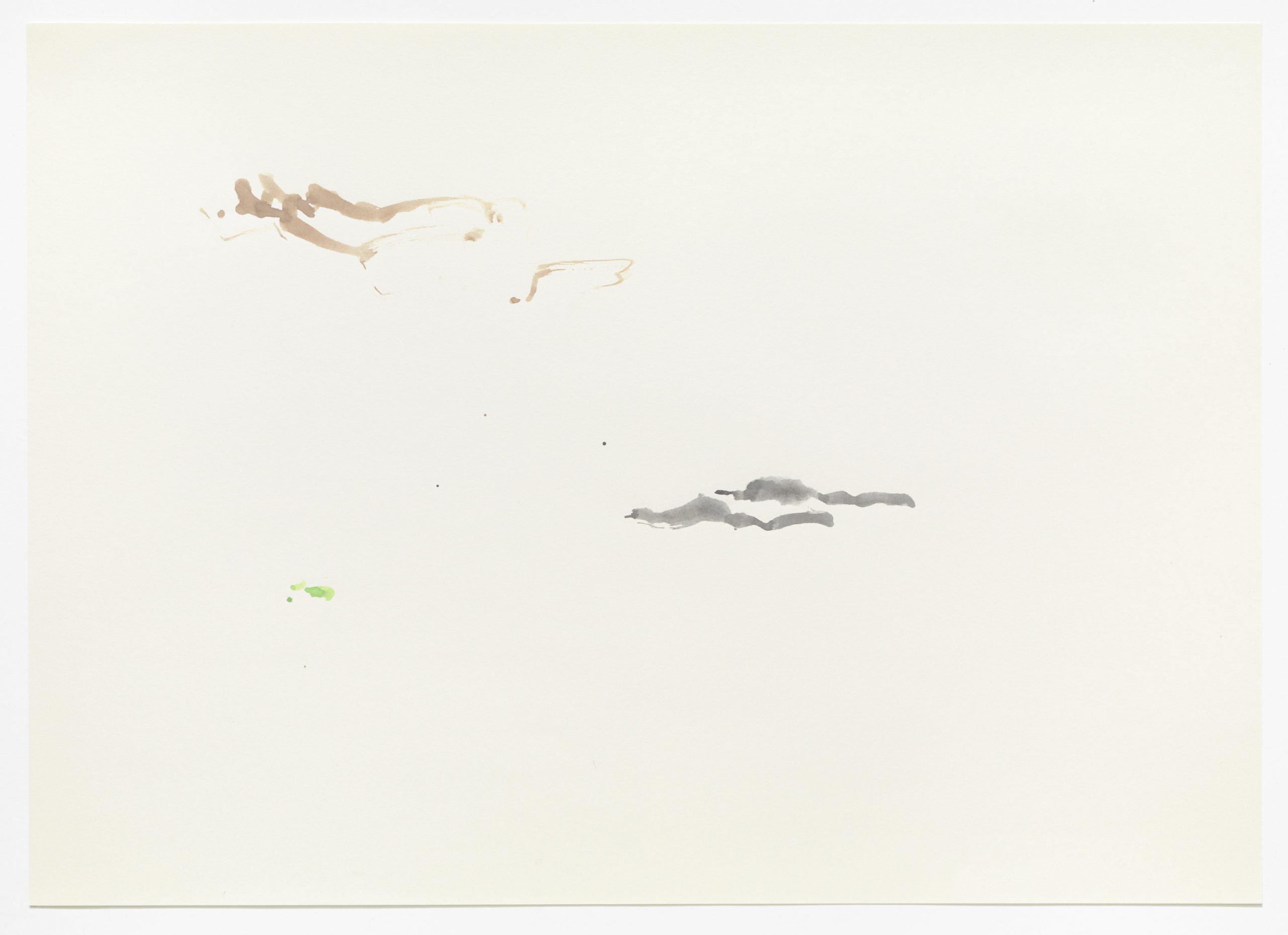 Anke Mila Menck, Aus der Serie Wolkenhände, 2019 Aquarell